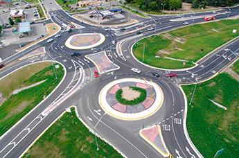 проезд перекрестков с круговым движением схема